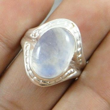 Moonstone 925 Sterling Silver Jewellery Women Size Ring Fashion Jewelry SZ 7.75