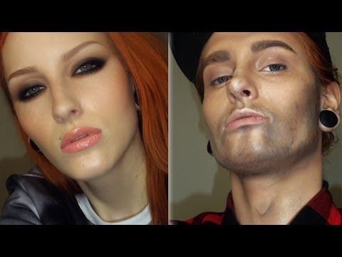 WOMAN TO A MAN MAKEUP TRANSFORMATION TUTORIAL / Girl to boy make-up - YouTube