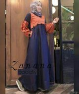 Zanana dress coral navy