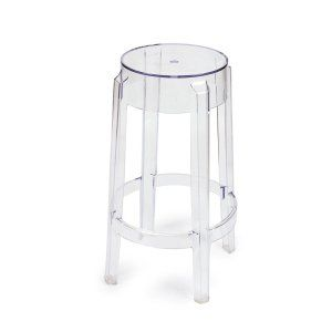 Joveco Crystal Backless Counter Chair Stool:  Not only is this stool elegant and stylish but it is a solid structure for seating. It has four solid legs to give you a good sitting foundation. It's definitely high end so if you need more then one then expect to pay a good amount for them. There is no backing to them but they still offer comfortable seating with a stylish design that compliments crystalline legs with brushed brass. They are one of the only stools in the list that