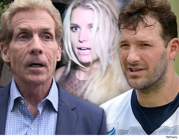 Skip Bayless -- Jessica Simpson Damaged Tony Romo ... 'Tumultuous Relationship' - http://blog.clairepeetz.com/skip-bayless-jessica-simpson-damaged-tony-romo-tumultuous-relationship/