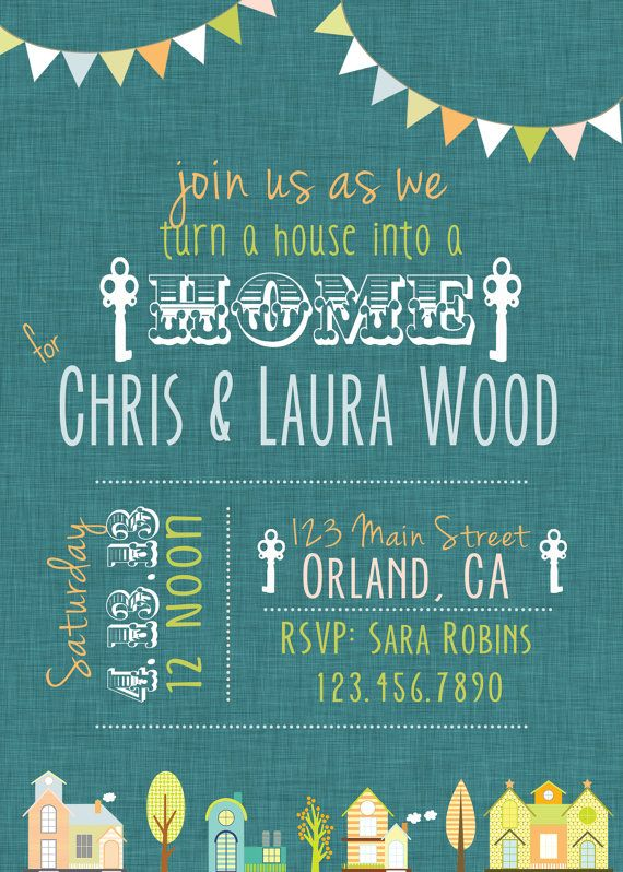 House Warming Party Invitation By RAWkonversations On Etsy, $12.00 ·  EinweihungEinweihungsfeier EinladungenHauspartyEin ...