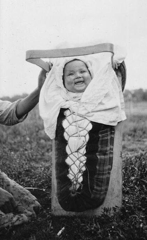 Ojibwa baby near English River, Ontario - 1925