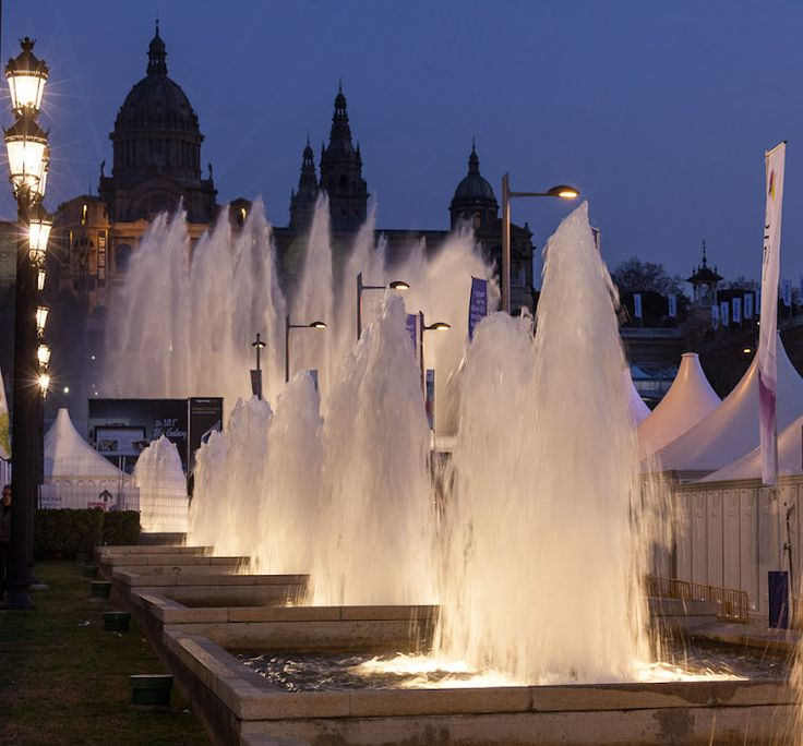 Beautiful fountains photographed by S.Shankland in Barcelona, Spain.