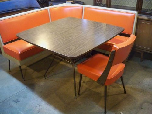 mid century dining booth in kitchen - Google Search