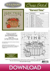 Harvest Time, Joy, designed by Sue Hillis Designs, from Sullivans' Autumn Collection.