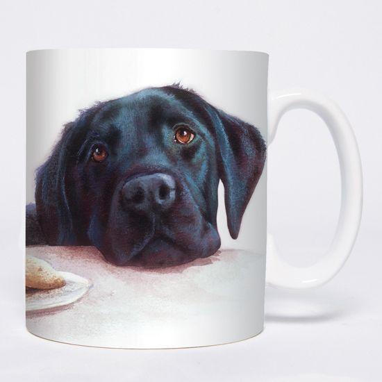 Watercolour Labrador (Black) Chunky Mug
