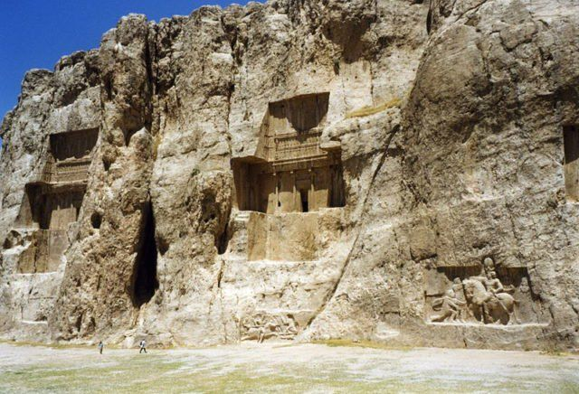 Located approximately 5 kilometers to the northwest of Persepolis, the capital of the ancient PersianEmpire, Naqsh-e Rustam (meaning Throne of Rustam) is