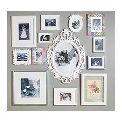 UNG DRILL Frame, oval, white $24.99:: For the frame wall