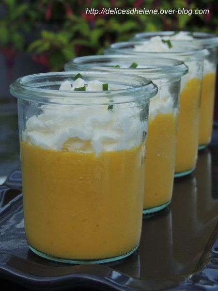 Crème de carottes et crème de fromage frais