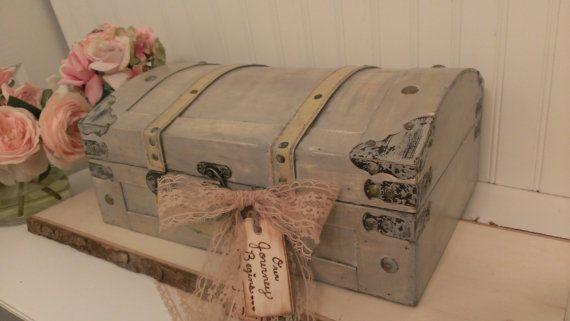vintage wedding card box, luggage card box, shabby chic wedding decor on Etsy, $69.00