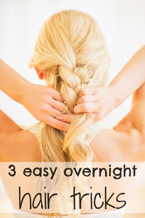 3 easy overnight hair tricks that will help you wake up with frizz-free waves and curls. You'll be able to get ready quickly the next day!