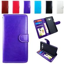 Luxury Flip Wallet Leather Case For Samsung Galaxy J1 2016 J3 2016 Case Cover J120 J120F J320 J320F J310 J300 Card Holder Stand(China (Mainland))