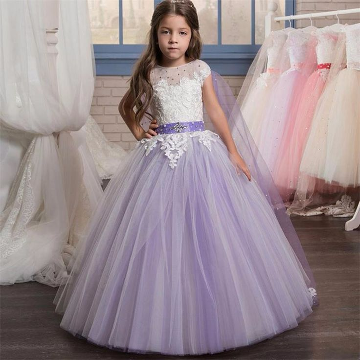 Find More Flower Girl Dresses Information about Lavender flower girl dresses With Cap Beaded Puffy kids evening gowns communion dresses vestidos de comunion para ninas 2017 ,High Quality girls red velvet dress,China dress shoes little girls Suppliers, Cheap dresses girl from Suzhou Yast Wedding Dress Store on Aliexpress.com