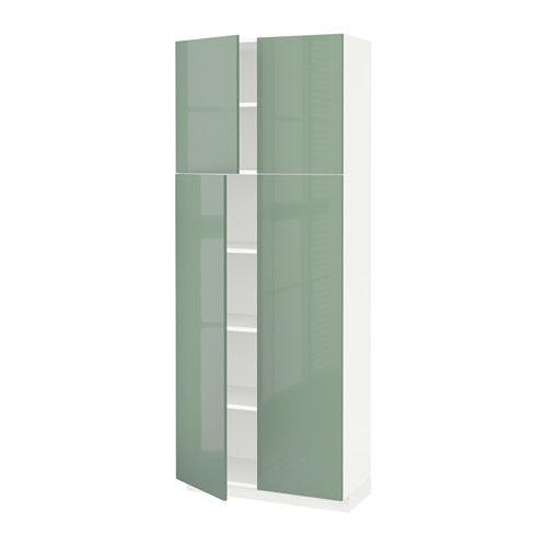 METOD Szafa wysoka z polkami/4drz IKEA Rozstaw możesz dostosować do własnych potrzeb, bo półki są regulowane.