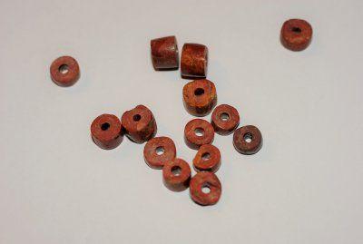 Catlinit, pipsten rondeller ca 7-8mm