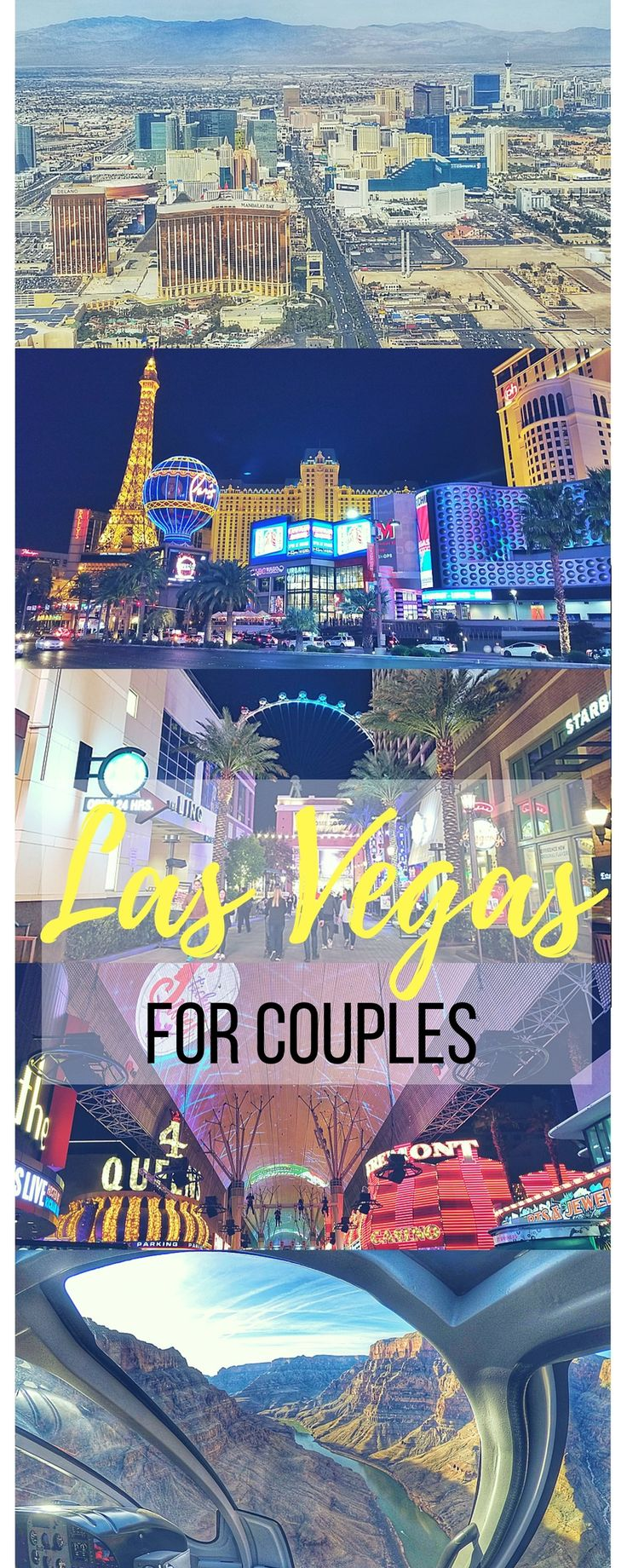 Free and Fun Things To Do In Las Vegas for couples. This article also includes some mid to high end budget activities and best places to eat on your visit. Find out how you can see Hoover Dam and the Grand Canyon as well as other off the Strip attractions nearby. #LasVegas #USAtravel Full details all here: https://togethertowherever.com/fun-things-to-do-las-vegas-couples/