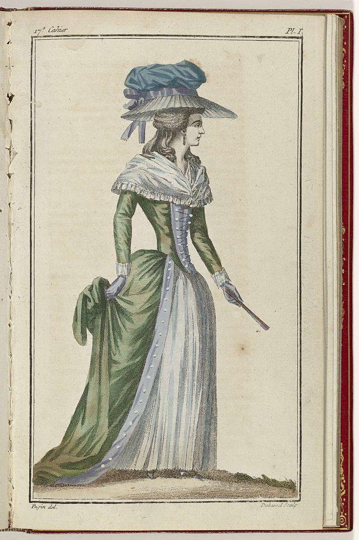 Cabinet des Modes ou les Modes Nouvelles, 15 Juillet 1786, pl. I, A.B. Duhamel, Pugin, Buisson, 1786