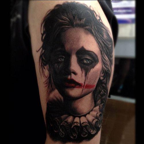 Tatuagem da Menina Palhaço