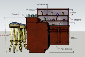 dimensions d 39 un bar bar cuisine pinterest bar hauteur et materiaux. Black Bedroom Furniture Sets. Home Design Ideas