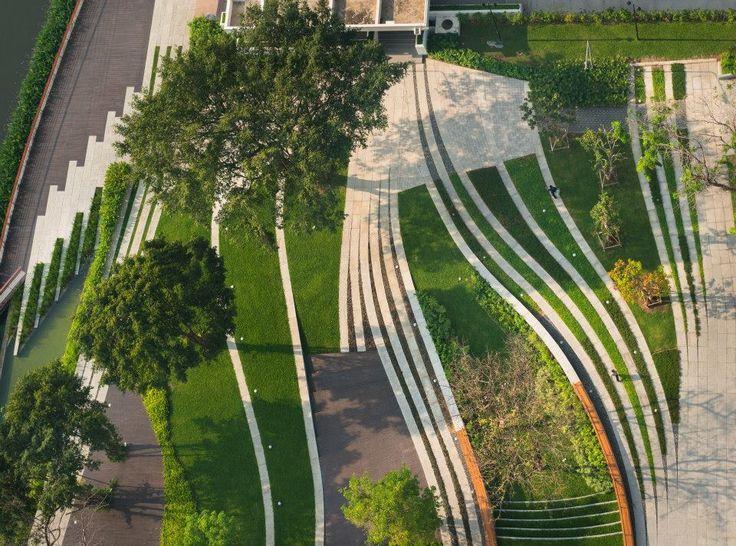 Landscape design for SCG Headquarter, bangkok, Thailand design by LAB (landscape architects of bangkok)