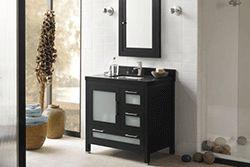"36"" Ronbow Athena Bathroom Vanity (031536-1L) #Ronbow #HomeRemodel #BathroomRemodel #BlondyBathHome #BathroomVanity"