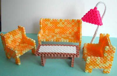 Doll furniture Nabbi beads by Emo