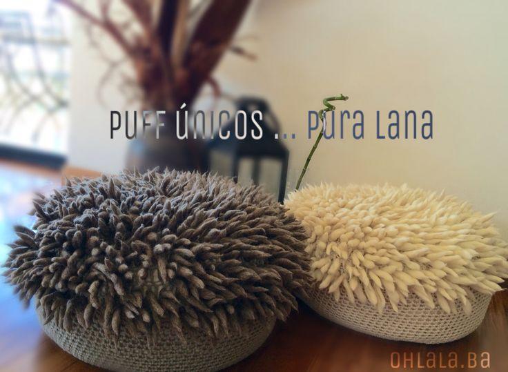 PUFF EMMA Pura Lana , diseños unicos