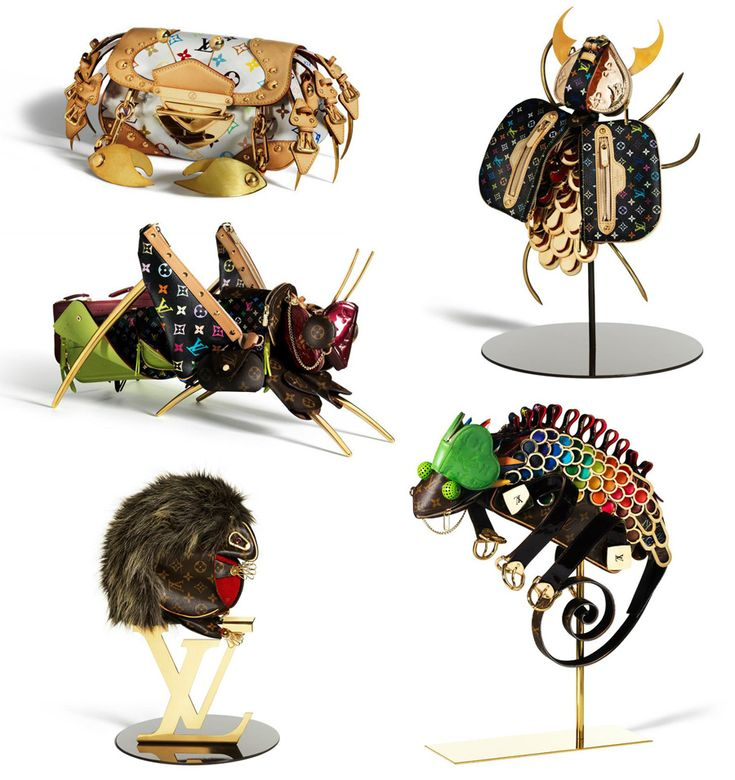 Billie Achilleos for Louis Vuitton. Maroquinaris Zoologicae. Miniature zoo made exclusively from LV's wallets, purses, belts and accessories.
