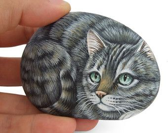 Sweet Fawn Painted on A Sea Stone Rock by RobertoRizzoArt on Etsy