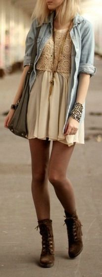 Loving the whole look - the tights complete it