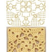 No.1 Framed Square Lace Crochet Motifs / 사각 프레임 모티브도안