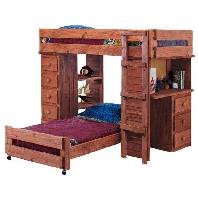 Pine Crafter Furniture Twin Over, Student Loft Bed With Desk