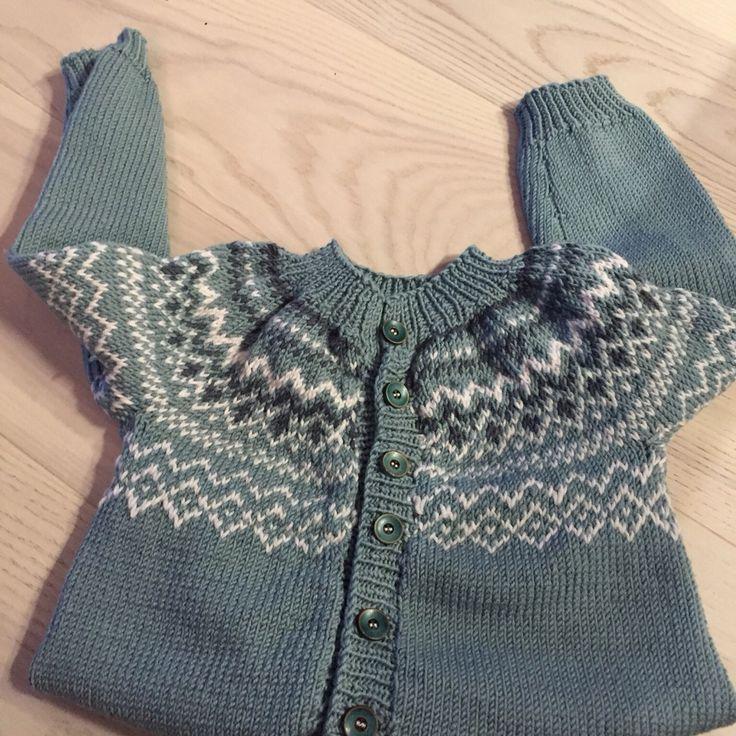 Ludvig kofte fra Klompelompe#Sandnes Merinoull #knitting#boy 4years