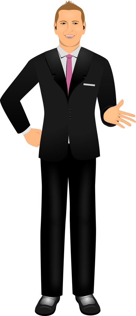 Customized illustration male avatar for eLearning with Adobe Captivate, Techsmith Camtasia, and Articulate Storyline.