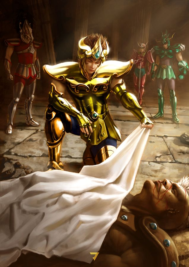 Illustrations of the 12 Gold Saints from Saint Seiya. This illustrations are made in Adobe Photoshop. We hope you enjoy it!