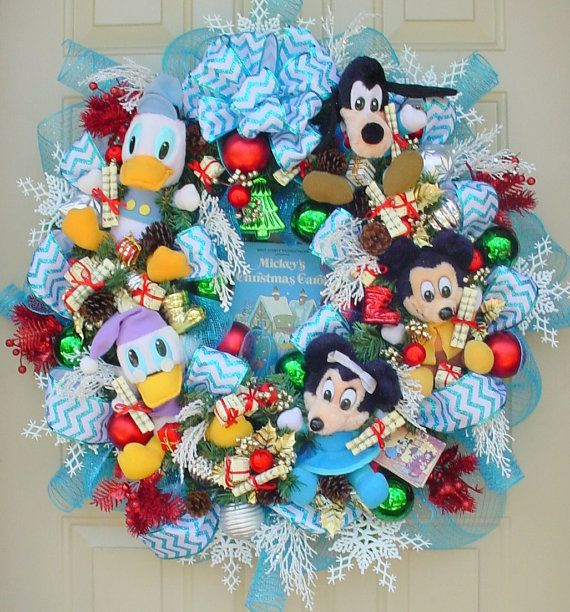 Disney's Christmas Carol-Vintage Plush and Book-Christmas Holiday Memory Wreath-Great Gift-Free Shipping-Must look at this one! So Cute.