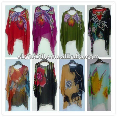 Printed Fabric Silk Chiffon For Dress - Buy Printed Fabric Silk ...