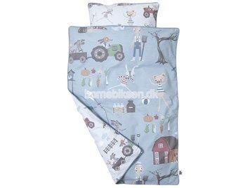 Sebra sengetøj junior, øko bomuld, Farm dreng