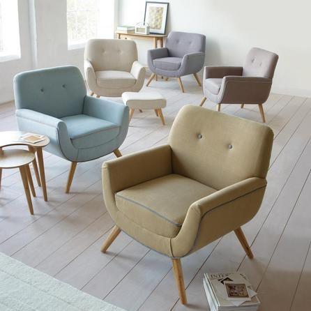 Skandi Natural Armchair and Footstool   Dunelm