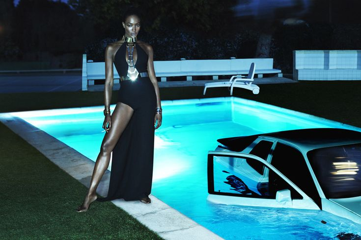 Interview Magazine astonishes for September 2014 issue, in a new editorial, the graceful silhouette of Naomi Campbell on a dreamlike background, the result being a cutting-edge, bodacious, dark resort-inspired photo set realized by prolific photography duo Mert & Marcus. Take a closer look of their work: