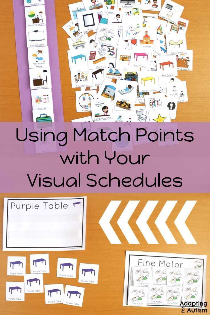 Special Education Best Practices And >> Using Match Points For Your Visual Schedules Independent Work