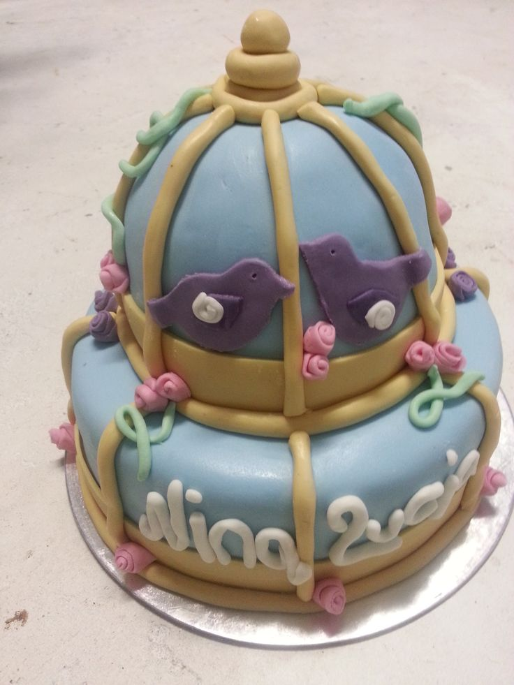 Birdcage Cake for a Baby Shower