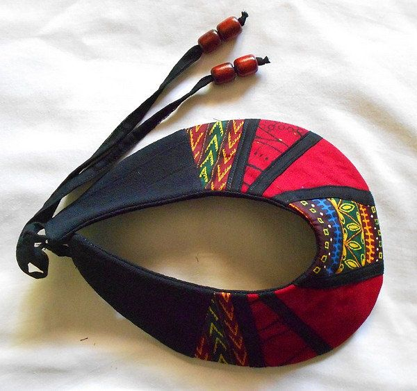 African Patchwork Collar ~African fashion, Ankara, kitenge, African women dresses, African prints, Braids, Nigerian wedding, Ghanaian fashion, African wedding ~DKK