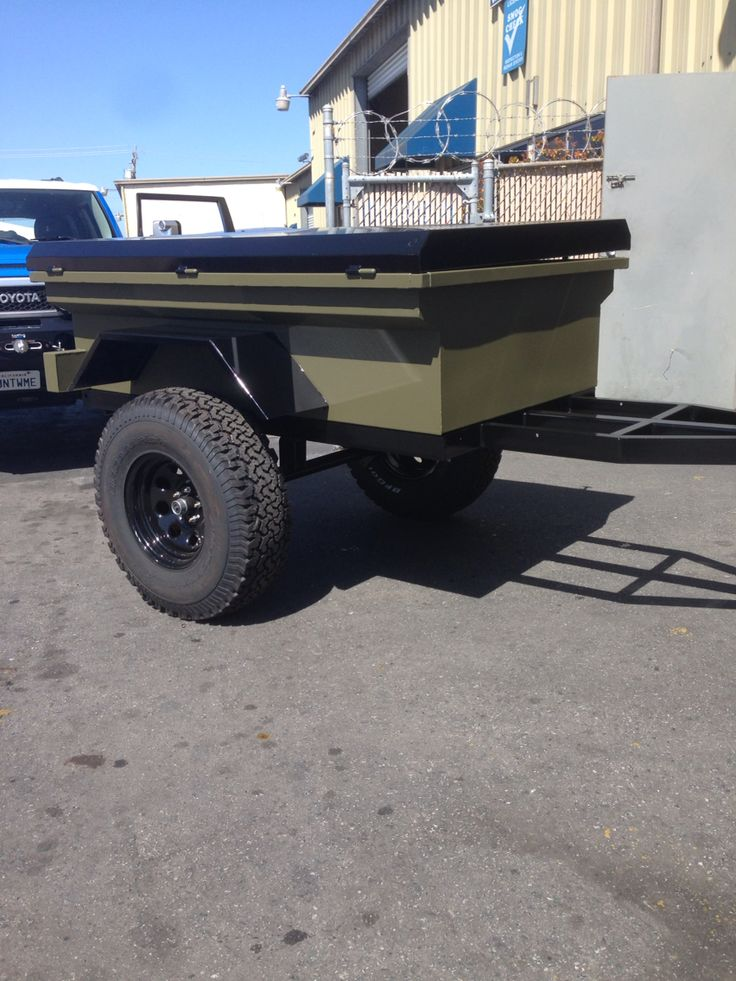 """Finishing up a new """"RockBox"""" adventure trailer for sale"""