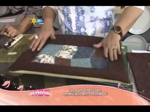 ▶ Patchwork Ana Cosentino: Jogo Americano (Programa Vida Melhor, Rede Vida 14/10/2013) - YouTube