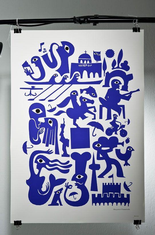 Blue Print of Thessaloniki