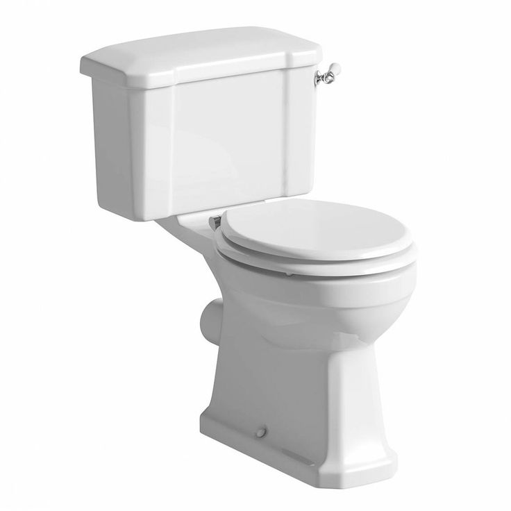 Camberley Close Coupled Toilet inc Luxury White MDF Seat