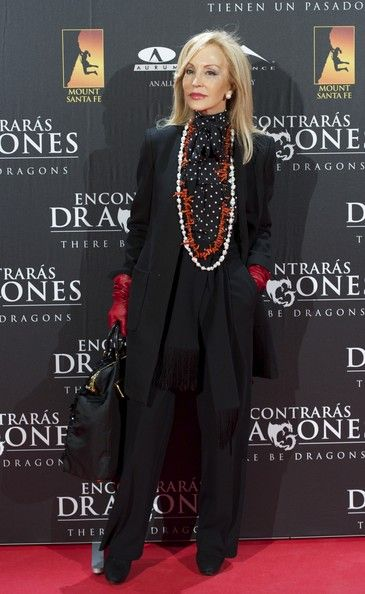 Carmen Lomana: 'There be Dragons' Premiere in Madrid