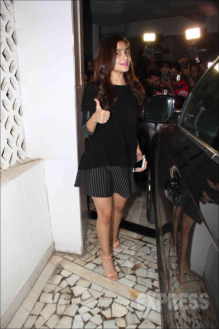 Alia Bhatt at Manish Malhotra's 50th birthday celebrations. #Bollywood #Fashion #Style #Beauty #Hot #Sexy #Cute